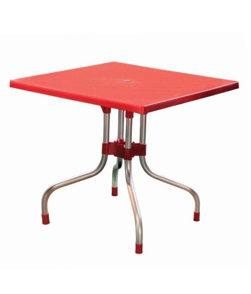 Supreme Olive Foldable Dining Table - Red