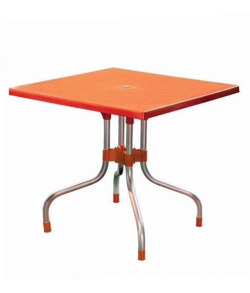 Supreme Olive Foldable Dining Table - Orange