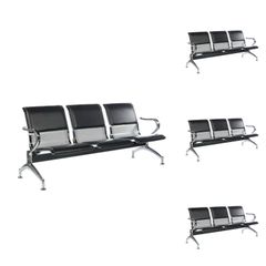 Three Seater Waiting chair with cushion ( Set of 3 )