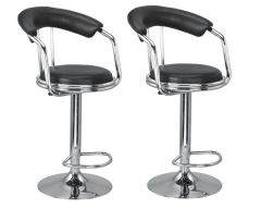 MBTC Magma Bar Stool In Black ( set of 2 )