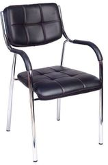 Visitor Chair in Black with arms