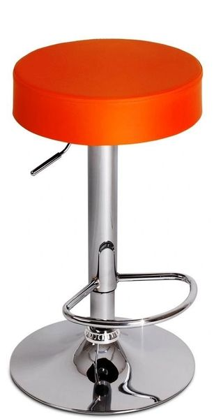 MBTC Essilor Height Adjustable Bar Stool In Orange