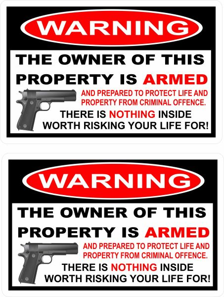 THIS HOME IS PROTECTED Vinyl Decal Sticker 2nd Amendment Gun Firearm Pistol