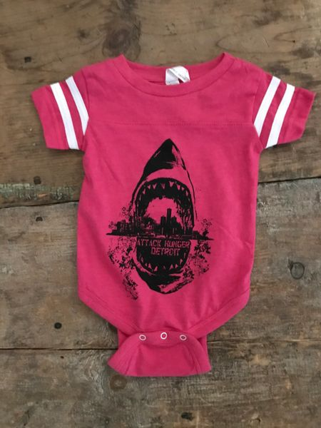 Attack Hunger Pink Sharkstyle Onesie