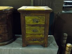 3 Drawer End Table or Night Stand - Mango Wood