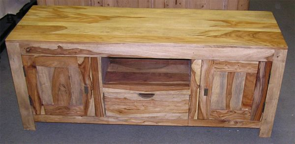 Zen-Wood TV Console Table - Natural Finish