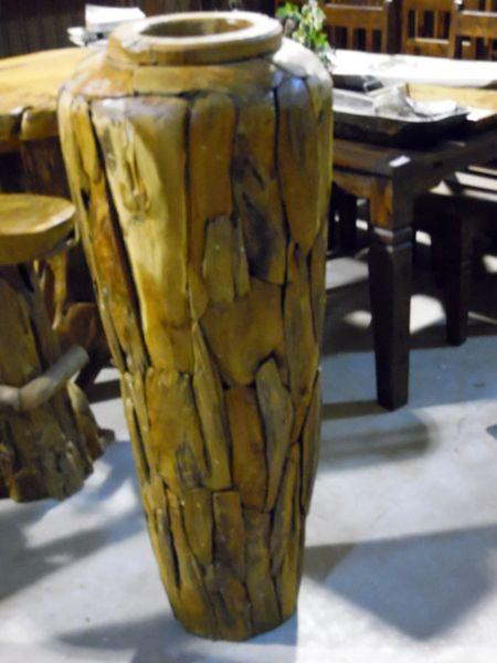 Large Vase - Teak Wood
