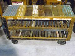 Trolley Cart with Metal Wheels - Reclaim Wood