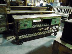 2 Drawer Trolley - Reclaim Wood