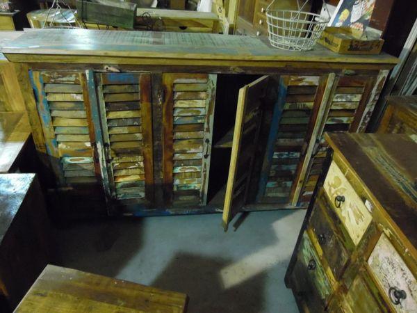 Shutter Door Cabinet - Reclaim Wood