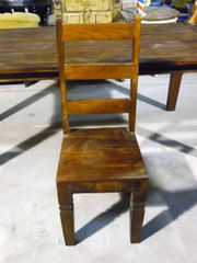 Dinning Chair with Slat Back - Mango Wood