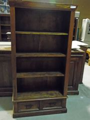 Bookcase with 2 Drawers - Mango Wood