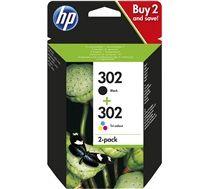 HP Original HP302 Black/Tri-colour twin pack