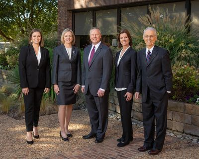 Estate planning attorneys Sarah Everett Fowler, Kelly DeBerry, Blair Norman, Catherine Norman & Roger Norman