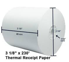 "3 1/8"" x 230' Thermal 50 Rolls"