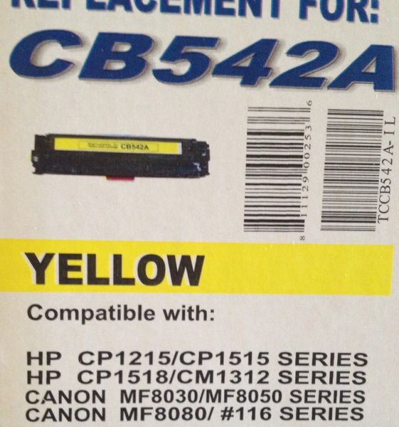 HP CB542A (125A) Yellow Toner