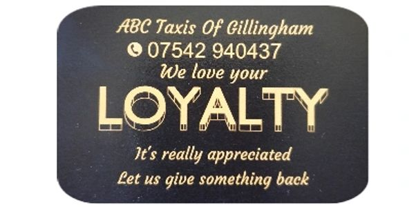 ABC Taxis Loyalty Cards
