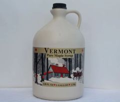 1 Gallon Plastic Jug of Pure Vermont Maple Syrup