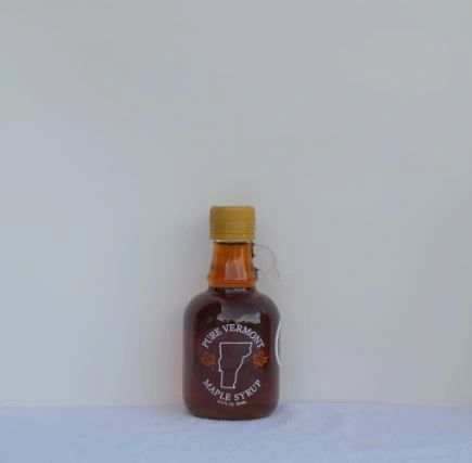 100 ML/3.38 oz. glass jug Vermont Maple syrup