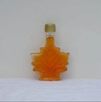 50 ML glass maple leaf, pure Vermont Maple syrup