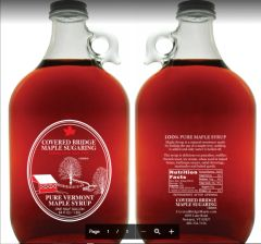 (2) 1/2 Gallon Glass Jugs of Pure Vermont Maple Syrup