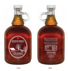 1 liter/33.8 fl. oz glass jug pure Vermont maple syrup