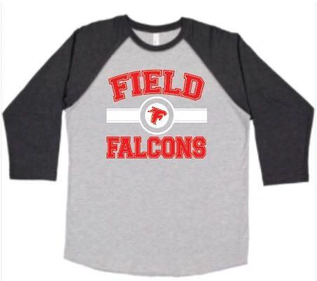 Field FMS Falcons Baseball T Shirt