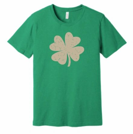 Metallic Crackle Shamrock T Shirt
