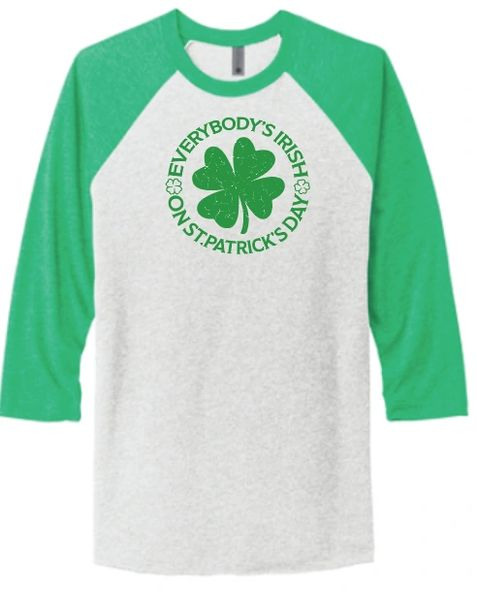 Everybody's Irish Baseball T Shirt