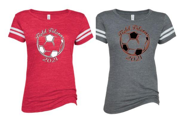 Field Ladies Soccer Ladies Fit Striped T Shirt