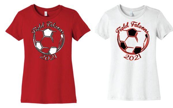 Field Ladies Soccer Ladies Cut T Shirt