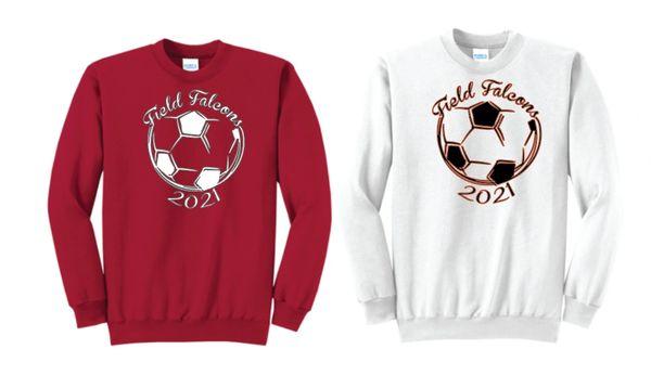 Field Ladies Soccer Crew Neck Sweatshirt