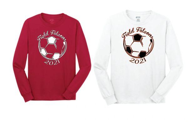 Field Ladies Soccer Basic Long Sleeve T Shirt