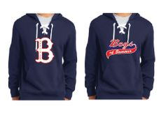 "Navy Hockey Hoodie with ""B"" Logo or Script Logo"