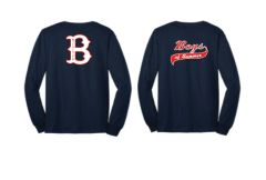 "Long Sleeve T Shirt with Your Choice of ""B"" Logo or Script Logo"