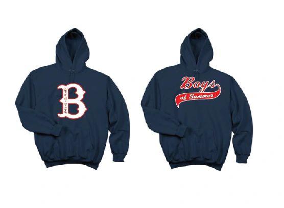 "Basic Hoodie in Navy with ""B"" logo or Script Logo"
