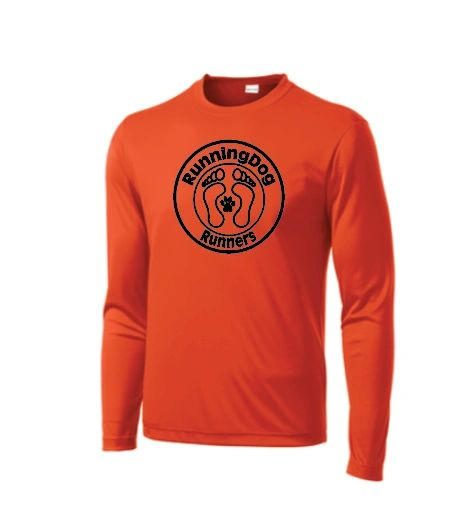 Basic Long Sleeve Moisture Wicking T Shirt with RunningDog Logo