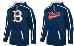 "Navy Tonal Hoodie with ""B"" Logo or Script Logo"