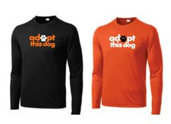 Adopt this Dog! Long Sleeve Moisture Wicking T Shirt