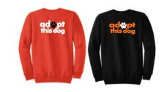 Adopt this Dog! Basic Crew Neck Sweatshirt