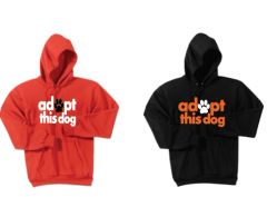 Adopt this Dog! Basic Hooded Sweatshirt
