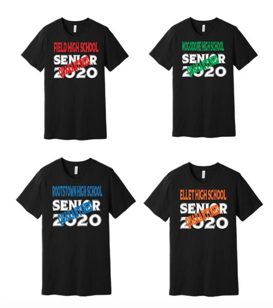 Senior Quarantine Stamp T Shirt