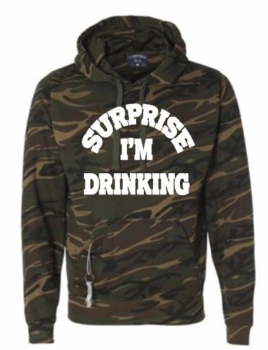 Surprise, I'm Drinking Beer Holder Hoodie