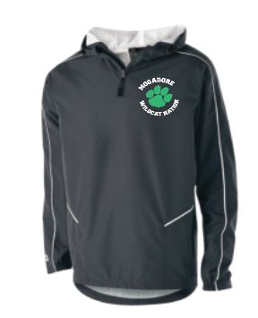 Mogadore Wizard 1/4 Zip Windbreaker Jacket with Embroidered Logo