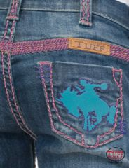 Girls Cowgirl Tuff *Wild and Wooly Pink* Jean