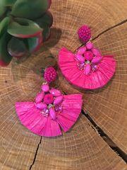 Fuschia Fan Earrings