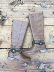 Tall Brown Zip-Up Boots