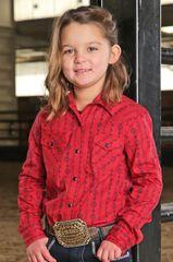 Cruel Girl Red Southwest Snap Shirt