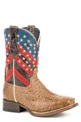 Roper Boy's Patriotic Ostrich Boots
