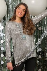 Eve Silver L/S Top